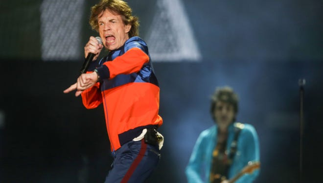 The Rolling Stones perform at Desert Trip, October 7, 2016.