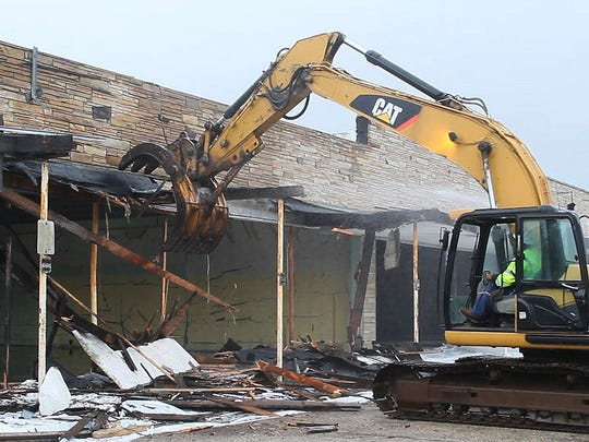 Demolition of the Beachwood Shopping Center on Route 9 in Berkeley started in August.