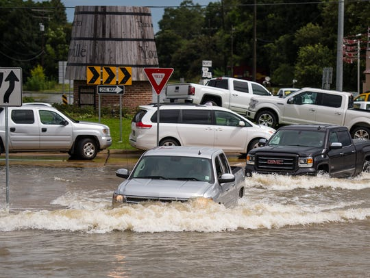 Streets and homes were flooded in Youngsville, Louisiana, in August 2016, when heavy rain fell for several days.