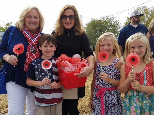 Community 2 learners from Pike Road Schools gave handmade poppies to veterans at the 2016 Veterans Appreciation Ceremony. On Nov. 5 the Seventh Annual Town of Pike Road Veterans Appreciation Ceremony will be held at the Pike Road Veterans Memorial.