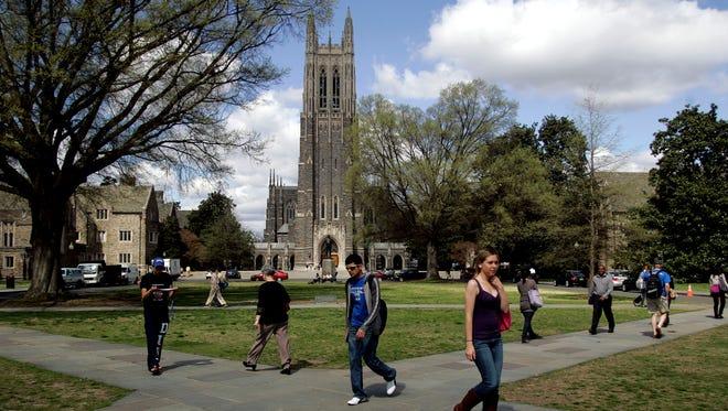 Duke Chapel on the campus of Duke University in Durham, North Carolina,