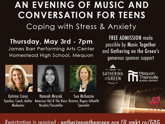 An Evening of Music and Conversation for Teens will also feature a musical performance by Richfield native Hannah Mrozak.