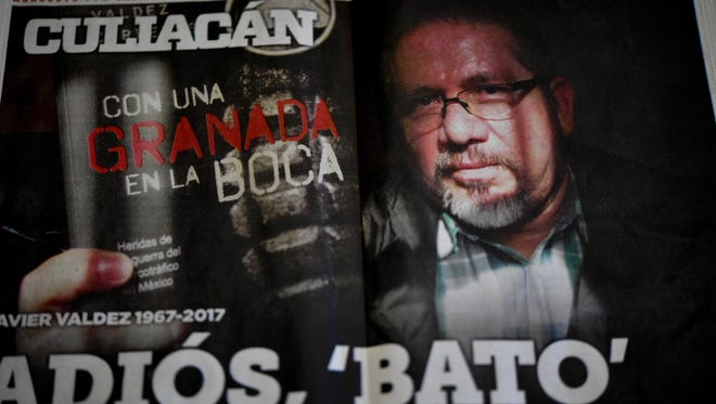 The front page of a local newspaper is dedicated to murdered Mexican journalist Javier Valdez and wishes him farewell, in Culiacan, Sinaloa state, Mexico on May 17, 2017.