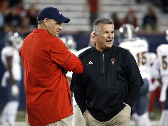 Rich Rodriguez and Todd Graham face off in Saturday's
