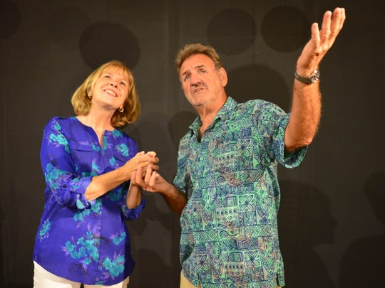 "Rhonda Davis and Ron Pirello in ""Flamingo Court – Life in Three Condos."""