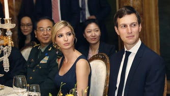 Jared Kushner and Ivanka Trump in Palm Beach, Fla., on April 6, 2017.