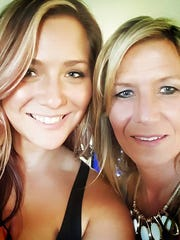 Julie Williamson, left, and her mother Cheryl Simmons on June 16th, 2016.