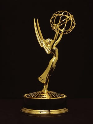 An Emmy statue is shown in this file photo.