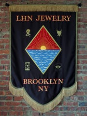 A commissioned banner that McAleavy made for LHN Jewelry