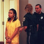 Catherine Jones at her 1999 sentencing in a Vera courtroom. 1999 Florida Today archive photo by Malcolm Denemark
