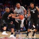 Myles Davis (left) and Trevon Bluiett (right) have been key cogs this season for Xavier, which went from an NCAA tournament bubble team to a virtual lock in the field.