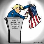 Letter | Donald Trump cartoon unfair