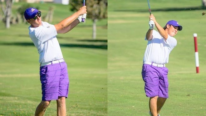 Harry Wetton, left and Deryk Perales paced the Mustangs in the first round of the WNMU Fall Intercollegiate.