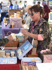 Chris Redman, of Christine's Natural Soaps, makes a