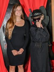 """Savanna Belle and Edie Jones on a """"spy mission"""" at"""