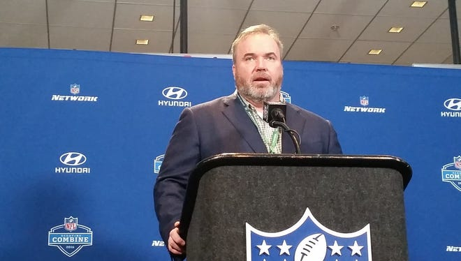 Packers coach Mike McCarthy spoke to the media on Thursday morning at the 2016 NFL scouting combine in Indianapolis.