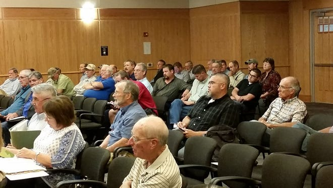 Residents attend a Thursday, Aug. 25, 2016, meeting of the Doña Ana County Planning and Zoning Commission.