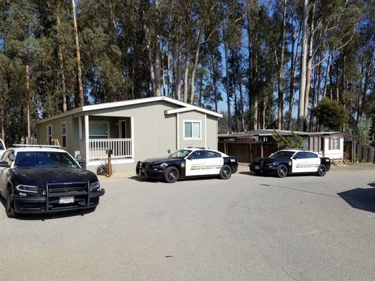 Monterey County Sheriff's deputies surrounded a Prunedale home on Tuesday.