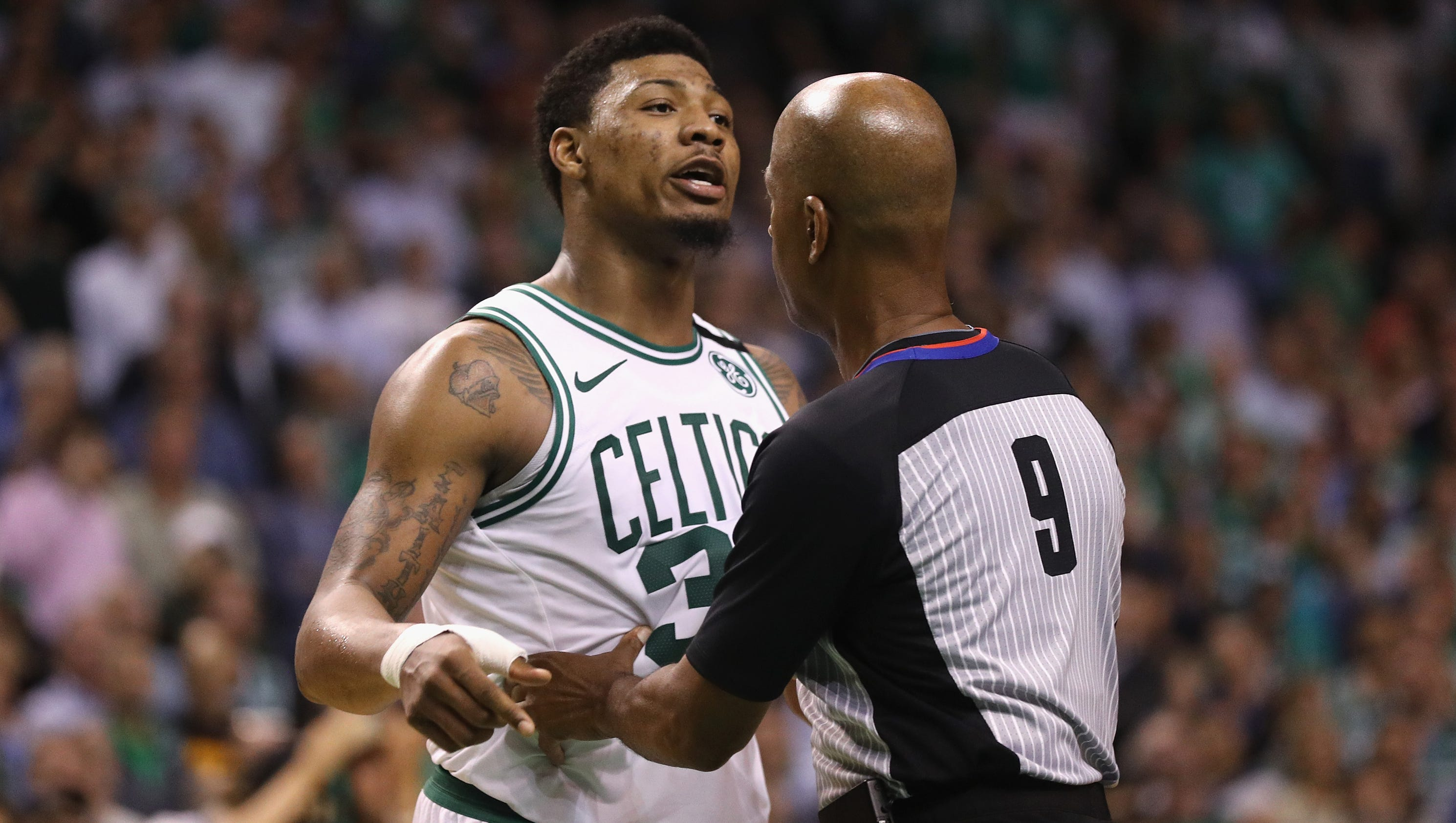 Marcus Smart calls out JR Smith: 'He's known for' dirty plays