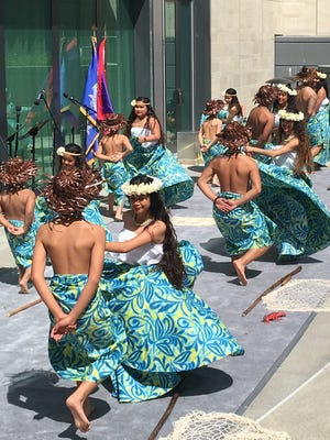 Uno Hit dancers perform at the Chamorro Cultural Fest 2017