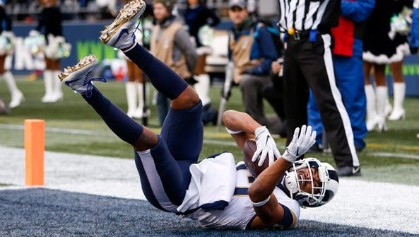 Rams wide receiver Robert Woods returned from a three-game