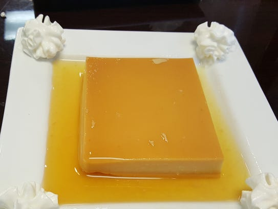 The flan at Aji Limon is very large and can feed a
