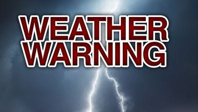 A severe thunderstorm watch has been issued.