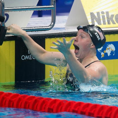 Lilly King makes sure we at least beat the Russians in swimming pool