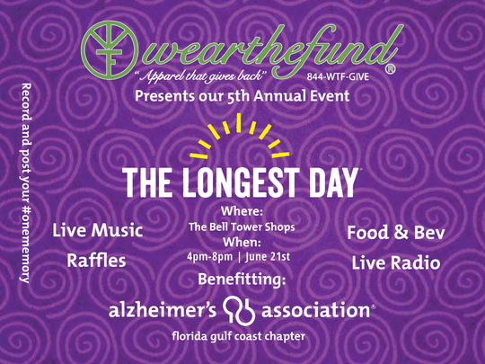 Wear The Fund's 5th Annual Longest Day® will be June 21 at Bell Tower Shops.