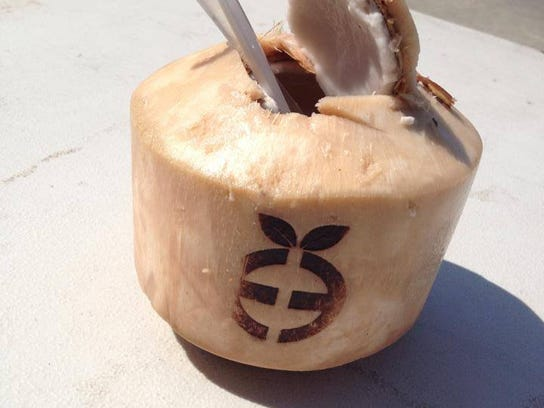 Emerge offers this refreshing coconut juice at Hub