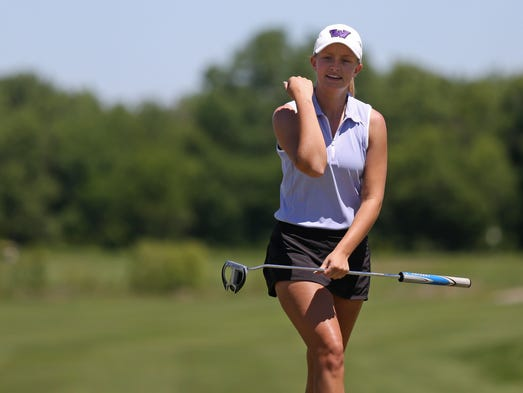 State girls' golf: Three defending champs lead after the ...
