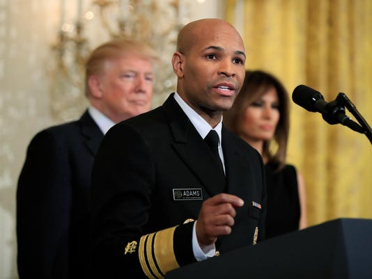 Donald Trump,Melania Trump,Jerome Adams