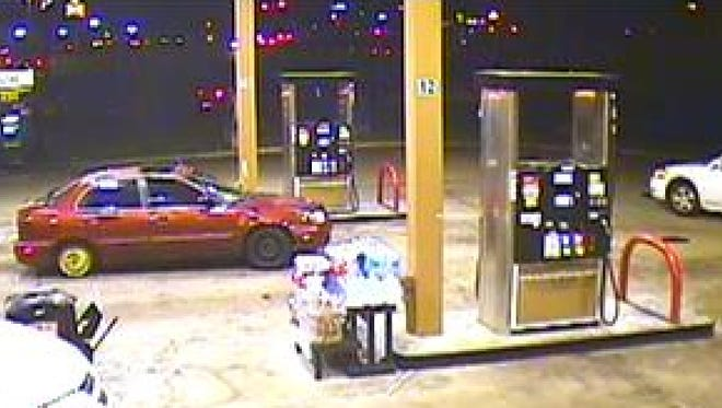 The two suspects pulled into the parking lot of Murphy's Express, 2709 Greenway Dr., Jackson, MS, in front of the Walmart off Hwy 18.