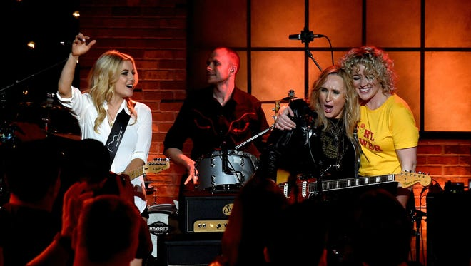 Lindsay Ell, Melissa Etheridge and Cam perform during Skyville Live.