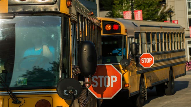 Peoria Public Schools buses are seen in a file photo.