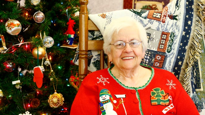 Elmae Ruger at her home at Bethany Village in Horseheads on Wednesday, December 6, 2017.
