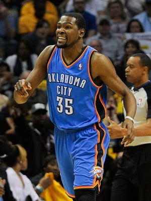 Kevin Durant poured in a game-high 36 points for the Thunder.