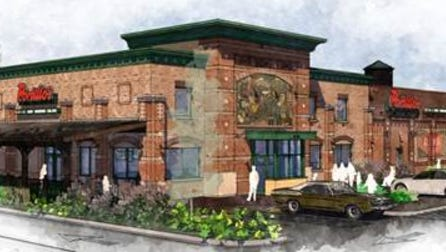 rendering of Portillo's restaurant in Greenfield