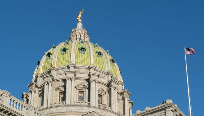Dome of the Pennsylvania State Capitol building Harrisburg, PA