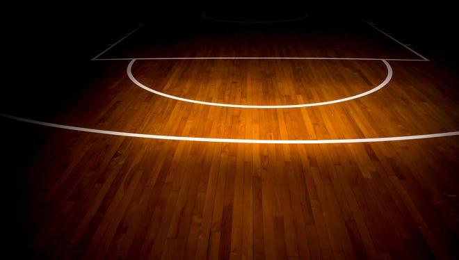 File image: Wooden floor basketball court