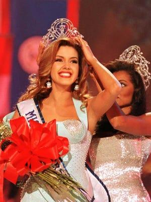 Competing as Miss Venezuela, Alicia Machado won the 1996 Miss Universe crown.