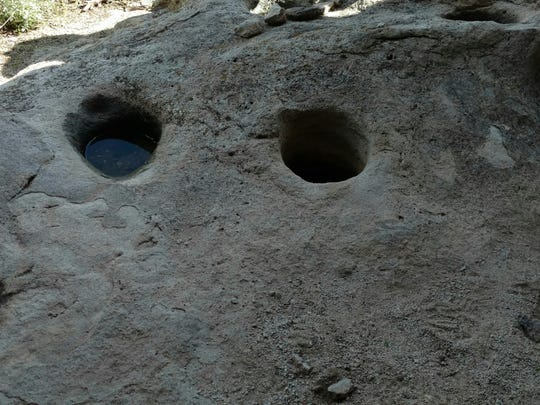 There are many indications of early life in what is now Hueco Tanks. These water holes are believed to be used by the Jornada Mogollon people.