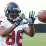 Jabar Gaffney once was with the Houston Texans.