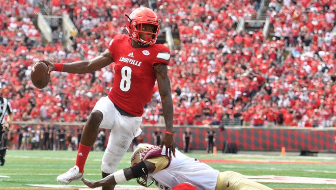 Louisville quarterback Lamar Jackson shredded apart Florida State's defense during a 63-20 blowout victory in 2016.
