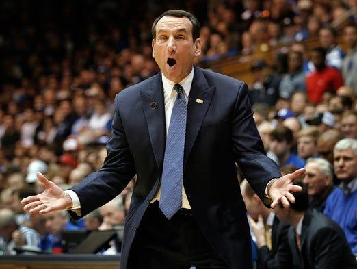 Mike Krzyzewski's bonuses fall, but he stays among highest-paid coaches