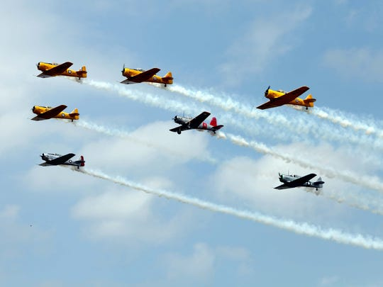The U.S. Navy Blue Angels will perform Saturday-Monday at Thunder Over Michigan.