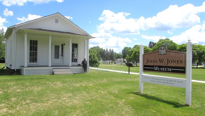 The John W. Jones Museum in Elmira will open with regular hours later this summer. To the right of the house is a plot where museum officials hope to eventually build an education center.