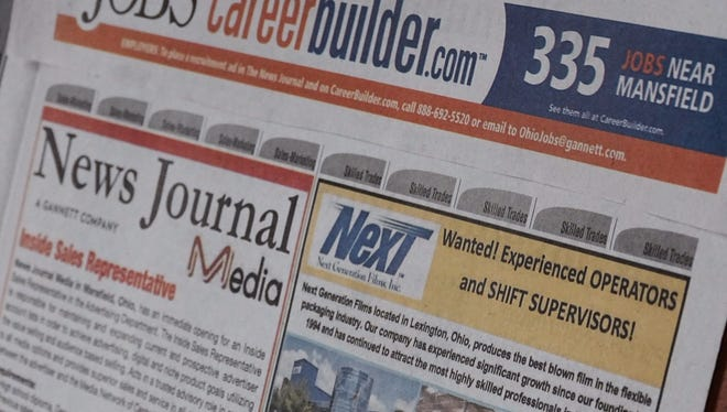Several jobs were advertised in the News Journal this past week, including jobs in manufacturing and media. CareerBuilder.com boasts 335 job postings in Mansfield.
