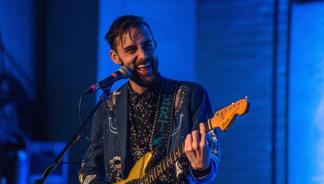 Robert Ellis performed at the Back Room at Colectivo Coffee Saturday.