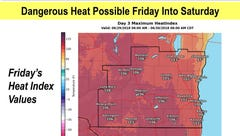 Dangerous heat expected across southern Wisconsin on Friday and Saturday